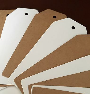 45x95 Mm Top Edge Trapezoid Plain Card Clothing Tags Tagging Gun Price Labels UK • 2.99£