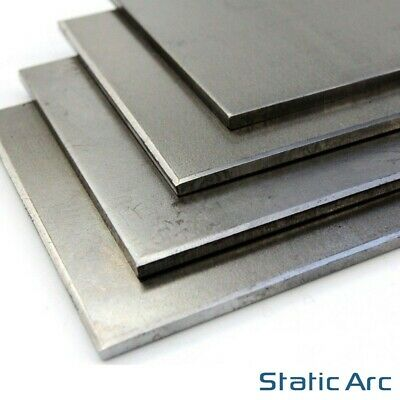 MILD STEEL SHEET METAL SQUARE PLATE PANEL 0.8/1/1.2/1.5/2/3/4/5mm THICK CUT SIZE • 10.99£