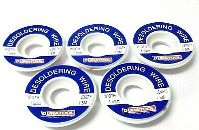 Desoldering Braided Wick. 1.5 Mm. Wire. Flux Coated. 1.5mtr Reel. *Top Quality! • 12.76£