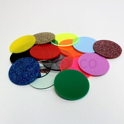 Plastic Circles / Laser Cut Acrylic Disc - ALL SIZES FREE CUSTOM SIZE CUT • 999£