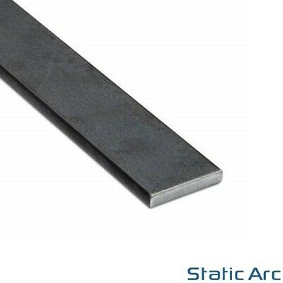 MILD STEEL FLAT BAR SOLID METAL STRIP 3-10mm THICK / 10-50mm WIDTH / CUT LENGTHS • 20.99£