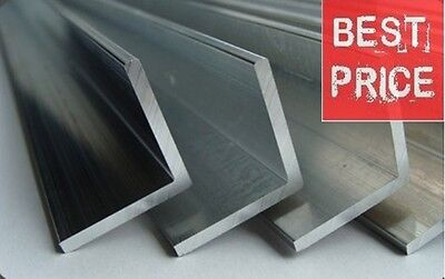 Stainless Steel Angle 304 Grade  Various Size 1 Meter LONG !! • 12.99£