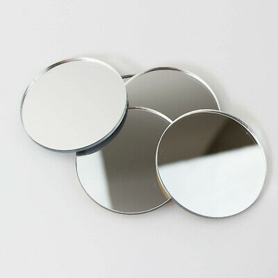 PK Of 6 Mirror Circle / Acrylic Mirror Disc Shatter Resistant / Wall Decor • 17.90£