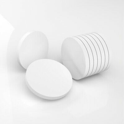 PK Of 50 / 40mm Diameter / 3mm 5mm Thick / White Plastic Circles / Acrylic Disc  • 15£