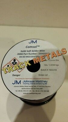 Comsol Solder  3 Mm Dia Solid Wire X 12  Long • 6.25£