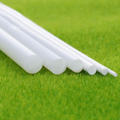 White ABS Plastic Rod Round Solid Bar DIY Model Material 250mmx1/2/3/5/10/15mm • 6.49£