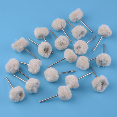 20X Dental Wool Brushes Polishing Buffing Wheels Rotary Tools • 5.33£
