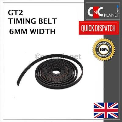GT2 6mm Timing Belt 2mm Pitch, Width Open Length For Pulleys 3D Printer CNC UK • 4£