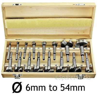 5 16 Pce FORSTNER Drill Bit Precision Bore Hole Drilling Tool Craft Set 6mm 54mm • 28.45£
