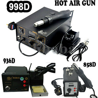 New Smd Hot Air Rework Soldering Station Power Tool 936 / 858d / 998d Uk • 32.99£