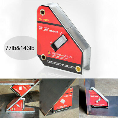 45°/90° Welding Magnet Jig Holder Square Metal Welder Clamp Single Switch Fixed • 25.03£