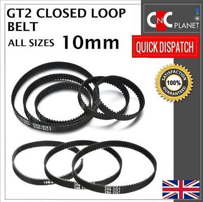 GT2 2mm Pitch 10mm Width Closed Loop Synchronous Timing Belt For GT2 10mm Pulley • 22.95£