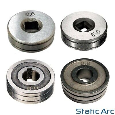 MIG WIRE FEED ROLLER DRIVE WHEEL FEEDER V KNURLED GUIDE WELDING 0.6/0.8/1.0mm • 4.99£