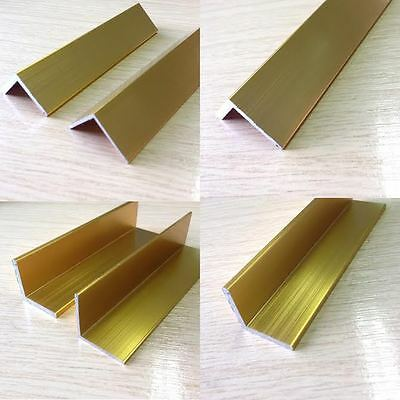Bright Gold Anodised Angle Trim Edging Various Sizes  • 13.30£