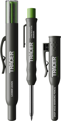 Tracer AMK1 Deep Hole Pencil Marker Set Inc. Leads In Site Holsters • 12.49£