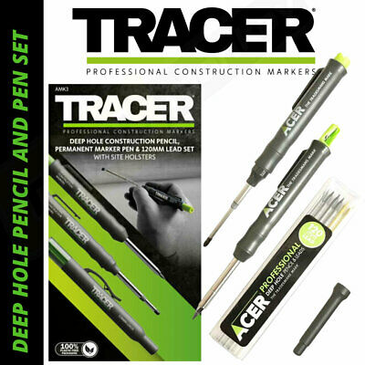 Tracer AMK3 Professional Deep Hole Pencil & Marker Pen Set In Site Holsters NEW • 17.29£