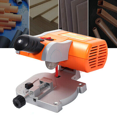 Mini Bench Top Cut-Off Saw Set 45° Miter 2  Blade For Metal Wood Cutting 220V UK • 32.06£