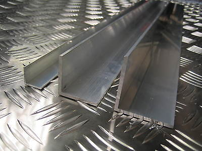 Aluminium Angle L Section 3/4  - 1  Multiple Sizes And Lengths 6082T6 6063T6 • 9.76£