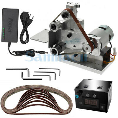 DC 12V-24V 20mm Belt Desktop Grinder With Power Supply Speed Governor • 86.74£