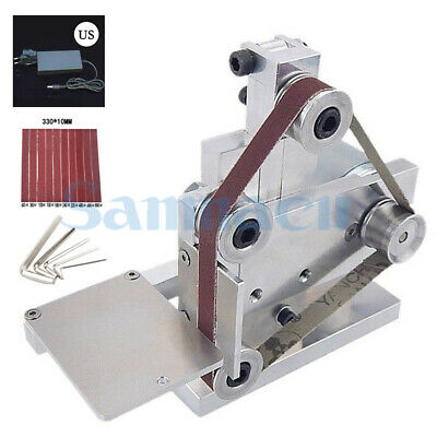 DC 12V-24V Aluminum 10mm Belt Sanding Machine With Power Supply For Polishing • 63.89£