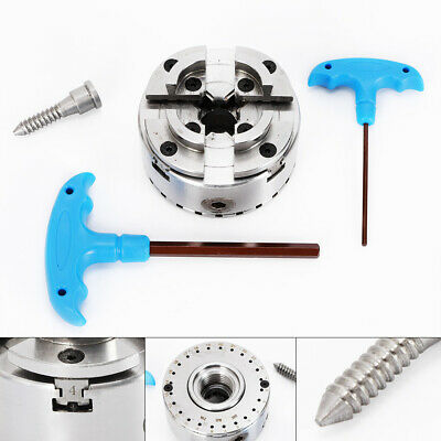 M33 4-Jaw Geared Scroll Chuck Self-Adjusting Centering  For Wood Turning Lathe • 77£