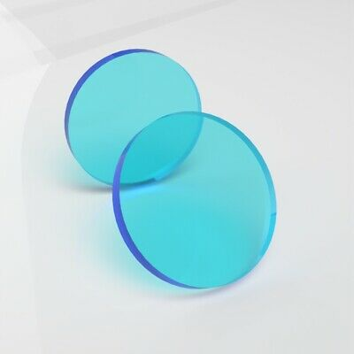 Perspex Neptune Blue Circles / Laser Cut Acrylic Disc 3mm / Plastic Circles 3mm • 0.99£