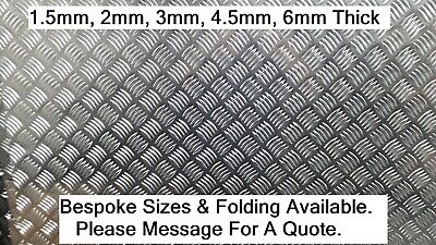 Aluminium Chequer Tread Plate Durbar 1.5mm - 4.5mm Various Sizes Grade 5754 • 78.42£