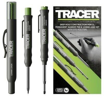 Tracer (acer) Amk3 Deep Hole Pencil Double End Marker Pen Spare Lead Holster  • 17.28£