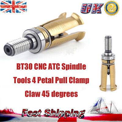 1pcs BT30 CNC ATC Spindle Tools 4 Petal Pull Clamp Claw 45° 7:24 Outer Screw UK • 48.01£