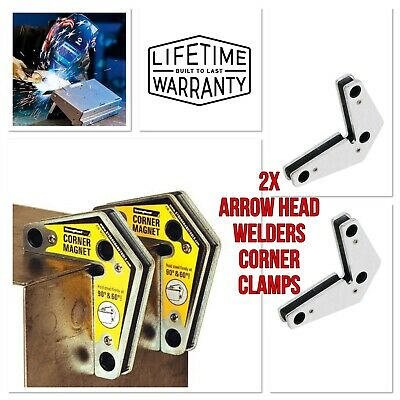 2 X 3'' Arrow Magnetic Welding Holder 60° 90° 120° Angle Soldering 20lb Tool • 14£