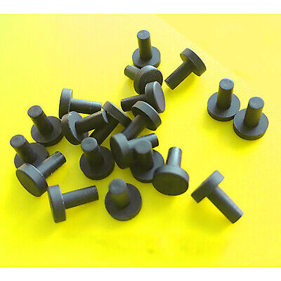 Silicone Rubber Blanking End Caps Tube Pipe Inserts Plug Bung Box Black 2.7-19mm • 20.49£
