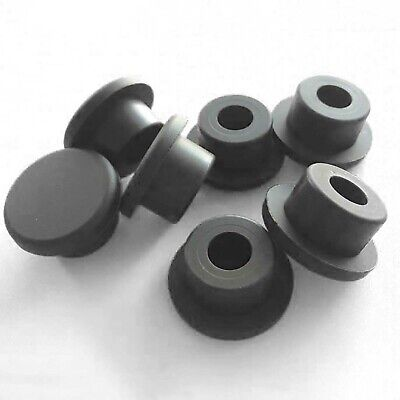 Silicone Rubber Blanking End Caps Tube Pipe Inserts Plug Bung Black 15.5-201.5mm • 44.59£