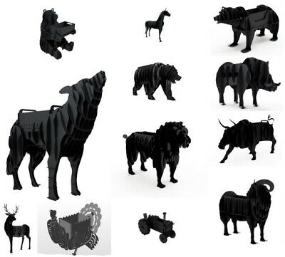 Pack Of DXF Files, 12 Animal BBQ GRILL DXF Files For CNC Plasma Or Laser Cutter • 24.99£
