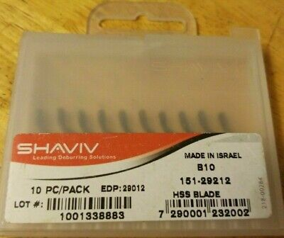 Shaviv Deburring Blades B10 Pack Of 10 • 10£