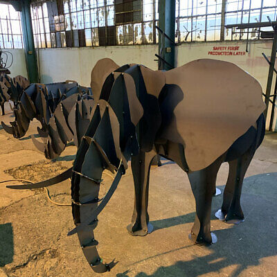 ELEPHANT BBQ, Flower Stand - DXF Files For CNC Laser Or Plasma Cutter • 8.99£