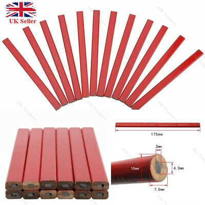 Carpenters Pencils Builders Woodwork Joiners Soft Lead Wood Marking Pencil X 12 • 2.20£