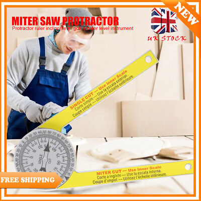 Miter Saw Protractor 7  Plastic Miter Protractor Angle Measuring Tool Portable • 6.69£
