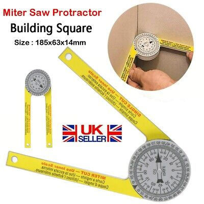 Miter Saw Protractor Angle Finder Engraved Drawing Measuring Level Household UK • 6.79£