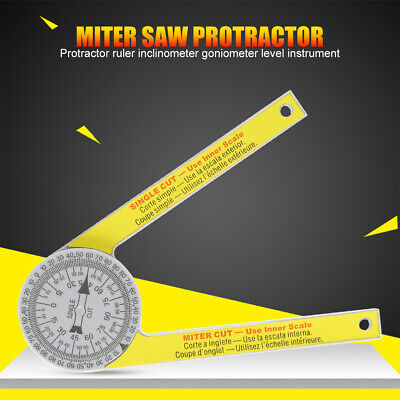 Angle Finder Ruler Miter Saw Protractor Engraved Drawing Measuring Level Tools • 6.59£