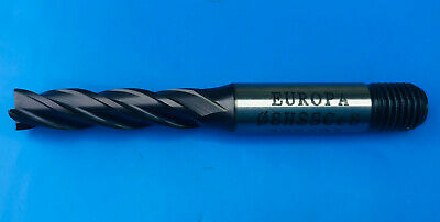 8mm HSS-Co8 TiAlN Europa 4 Flute Long End Mill With Screwed Shank  • 12.99£