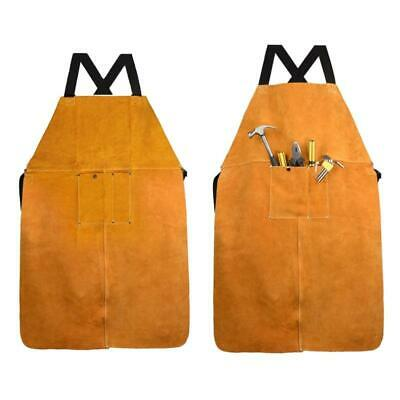 Safety Shop Leather Welding Work Apron,Heat&Flame Resistant, Protective Clothing • 20.29£