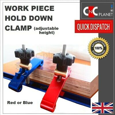 Work Piece Hold Press Down Clamp Adjustable Height Wood Work CNC Milling Router • 19.95£