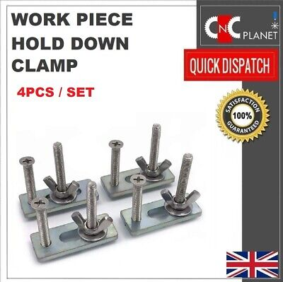Work Piece Hold Press Down Clamp T-slot Wood Work CNC Milling Router Set Of 4pcs • 19.95£