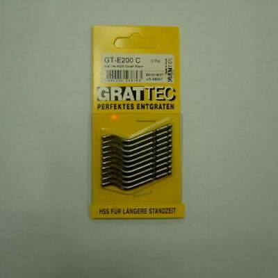 Grattec GT-E200S Tool Blade For Heavy Duty Deburring 10PCS • 18.37£