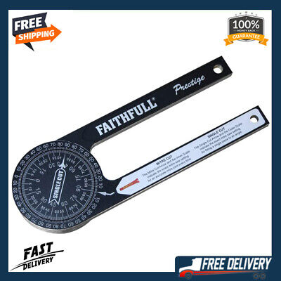 Faithfull Mitre Saw Protractor Angle Finder Goniometer Arm Scale Ruler Gauge • 28.49£