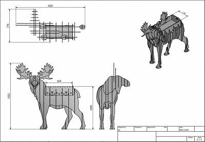 MOOSE BBQ, Flower Stand - DXF Files For CNC Laser Or Plasma Cutter • 12.99£