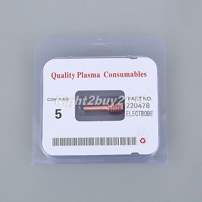 5Pcs Plasma Cutting Electrodes 220478 For Power Max 30 30A Consumable Parts • 12.24£