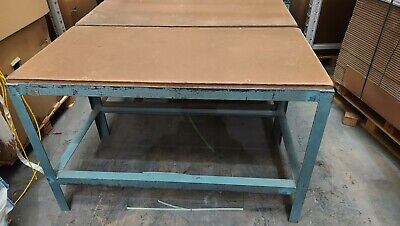 Fabric Cutting Table Cast Iron Frame • 65£