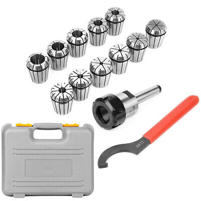 ER32 Collet Chuck & MT2 Shank Handle Holder+ Spanner For Milling Machine W/ Box • 38.39£