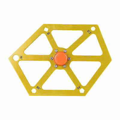 For Table Saw Aluminum Alloy Hexagon Ruler Angle Finder Magnetic Woodworking • 11.56£